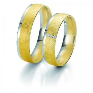 Moderne Eheringe, die Sie personalisieren können! Eheringe nach Mass... Aus weissem Gold mit Diamanten.  in matter und glänzender Linie und abgenutzer Effekt