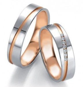 customizable wedding rings personlize them diamonds pink gold line white gold and yellow gold