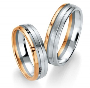 customizable wedding rings personlize them diamonds pink gold matt and shiny white gold and yellow gold