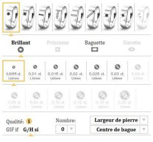 choix du diamant alliances personnalisables personnalisées graver bagues gravure or blanc or gris or jaune or rose mat brillant choix alliances sur mesure