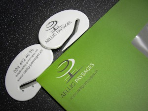 ouvre lettres gravé publicité marquage laser impression logo site internet aellig gravure suisse romande région bienne