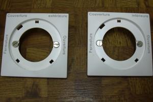 Interrupteurs en plastique avec marquage au laser des fonctions.