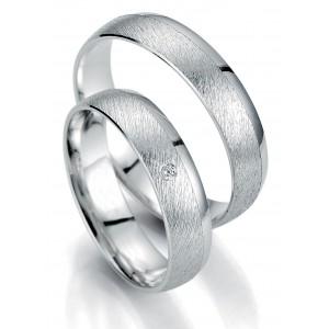 Moderne Eheringe, die Sie personalisieren können! Eheringe nach Mass... Aus weissem Gold mit Diamanten.  abgenutzes Effekt