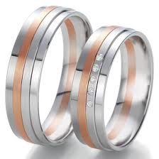 customizable wedding rings personlize them diamonds pink gold three lines white gold and yellow gold