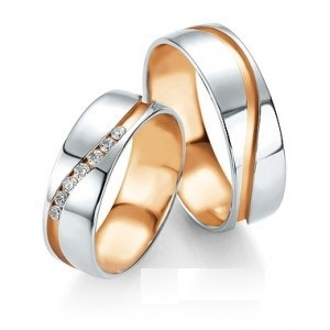 customizable wedding rings personlize them diamonds pink gold white gold and yellow gold with wave